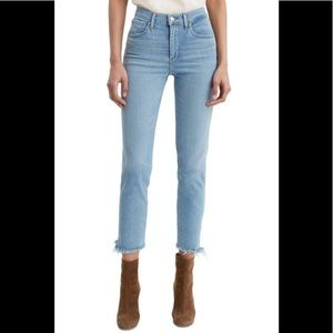 Levi's 724 High Rise Straight Fray Crop Jeans